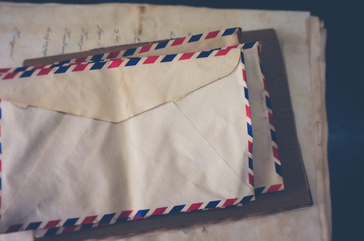 Drei Briefkuverts