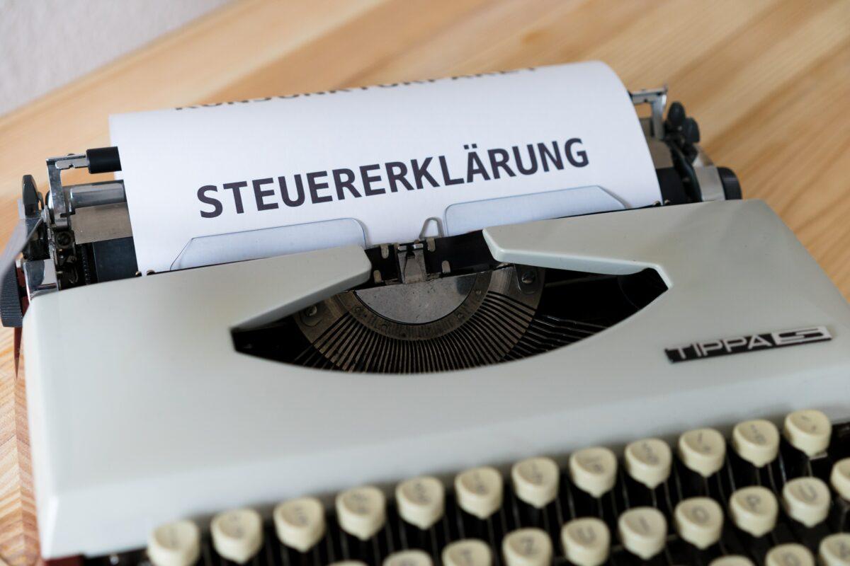 Bild einer alten Schreibmaschine